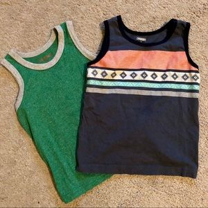 2 Toddler Boys Tank Tops, Gymboree, Cat & Jack, 2T